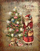 Primitive Santa Claus Old World Belsnickel Christmas Folk Art PRINT ONLY 8x10