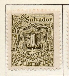 El Salvador 1895 Postage due  Issue Fine Mint Hinged 1c. 141187
