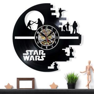 Star Wars Vinyl-Schallplatte Wohnkultur Wanduhr handgefertigt Wandschild