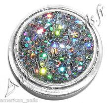 boite paillettes fines bijoux ongle Argent HOLO HEXAGONES 1mm Nail Art