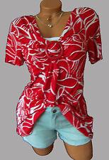Figurumspielendes Longshirt Shirt-Tunika GR. 52/54 rot/weiß 948622 Neu