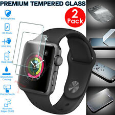 2x Genuine TEMPERED GLASS Screen Protector For iWatch Apple Watch 42mm Series 2