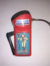 HE-MAN MASTERS OF THE UNIVERSE TEELA GENERATOR FLASHLIGHT 1983 WORKS needs bulb