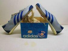 Vintage 1970 Men' Grey /Royal Kangaroo Adidas Track Shoes size 7 1/2 with box