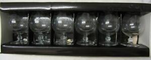 Set of Six (6) Pall Mall/Lady Hamilton Brandy Balloon Glasses (Boxed/Unused)