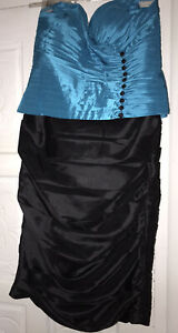 Mascara suit Blue/black Mother of the bride size  Jacket 14 And Dress 16