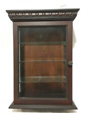 Wooden Counter Top Curio Cabinet Case with Three Glass Shelves.