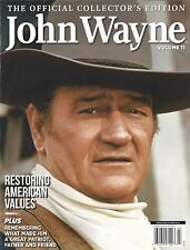 The Official Collector's Edition John Wayne Volume 11 Restoring American Values