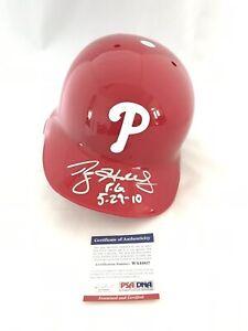 PHILADELPHIA PHILLIES ROY HALLADAY signed INSCRIBED RAWLINGS BATTING HELMET PSA