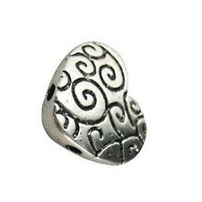 20 PCS Tibetan Silver 2 holes heart spacer bead T11151