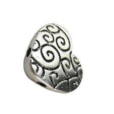 20 Tibetan Silver 2 holes heart spacer bead T11151