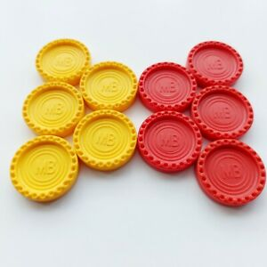 MB CONNECT 4, Spare/Replacement 10 X Counters (5 Red & 5 Yellow) - Free Postage!