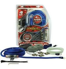 4 Ch Car Stereo Amplifier Wiring Kit 4 Gauge with 2 RCA Cables 80 amp power fuse