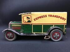 WELLS BRIMTOY CLOCKWORK TINPLATE TOY EXPRESS TRANSPORT DELIVERY VAN VINTAGE CAR