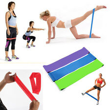 Latex Yoga Pilates Resistance Bands Strength Exercise Workout Fitness Loop Band