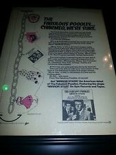 The Fabulous Poodles Mirror Stars Rare Original Promo Poster Ad Framed!