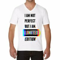 I Am Not Perfect Men/Women Ringer Funny T-shirts White Cotton Short Sleeve tops