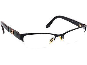 Gucci Women's Eyeglasses GG 4213 GB5 Black Half Rim Frame Italy 53[]17 135