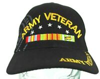 US Army Vietnam Veteran Hat Black Adjustable Cap