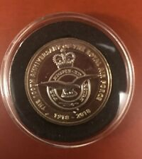 £2 Two Pound Coin 2018 Royal Air Force RAF Badge Symbol Uncirculated