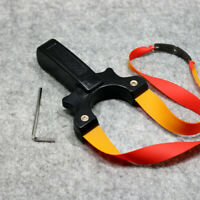 Black Archery Slingshot Hunting Catapult Slingbow Flat Rubber Band Shooting Bow