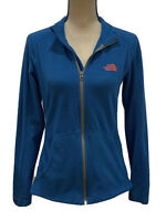 The North Face Blue Fleece Jacket Womens Size Small Zip Front Long Sleeve - C