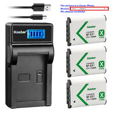 Kastar Battery LCD Charger for Sony NP-BX1 Cyber-shot DSC-RX100M6 (RX100 VI)