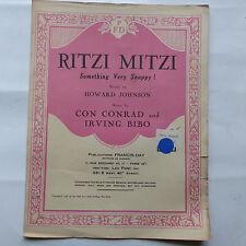 Partition Ritzi Mitzi HOWARD JOHNSON CON CONRAD IRVING BIBO