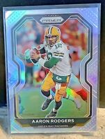 2020 Panini Prizm Silver Football Card Aaron Rodgers #206 Packers SSP NFL MVP