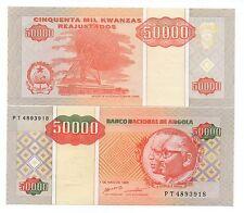 ANGOLA 50000 KWANZAS 1995 PICK 138 UNC