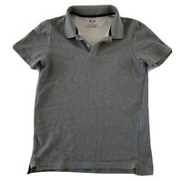 Oakley Regular Fit Casual Short Sleeve Polo Shirt Men's Size S Solid Gray