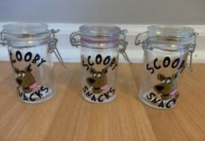 Herb  Jar Glass Storage Container Air Tight, Scooby Snacks ,scooby Doo