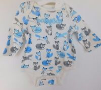 NWT Gap Baby Boy 1Pc Bodysuit Fox Gap Logo Sizes 0-3M Free Ship NEW
