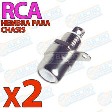 2x Conector RCA Hembra CHASIS BLANCO Soldar audio video
