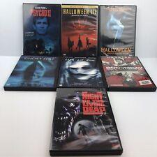 Horror DVD Lot - Psycho 2,Halloween 3/6,Ghost Ship,Fear Dot Com,Doomsday,NOTLD