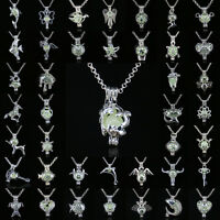 Multi 71Types Luminous Necklace Long Chain Hollow  Pendant Women Jewelry Gift
