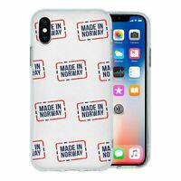 For Apple iPhone XS Silicone Case Made In Norway Print - S8414