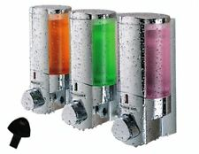 3 DISTRIBUTORI dispenser sapone shampoo x hotel casa gelateria bad & brekfast