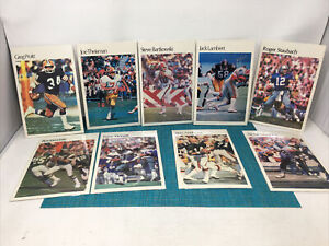 1980 NFL FOOTBALL SUPERSTAR MINI POSTERS LOT OF   9 POSTERS  ( A4)