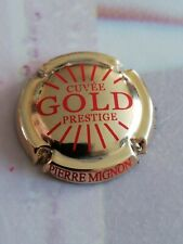 Capsule de Champagne PIERRE MIGNON Prestige Gold Doré à l'or Fin Rouge.