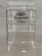 "BRAND NEW ~ SEAGRAM'S VODKA 3-SHELF 16"" COMMERCIAL LIQUOR DISPLAY CASE ~ BARWARE"