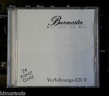 Burmester Test CD II, Gold Disc, Audiophile Must Have, HDCD, Sale as is.