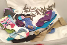Advent 25 Xmas Socks Stockings Clothes Line Clothespin Chimney Shelf Display VTG