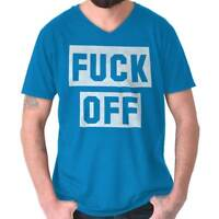 F*** Off Rude Insulting Vulgar Profanity Gym V-Neck Tees Shirts Tshirt T-Shirt