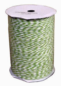 Bi Coloured paper Twine Lime/White String 100 metres. 40842