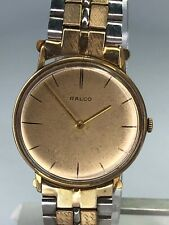 Vintage 1970's Ralco Men's Wind Up Watch Two Tone Band - Working