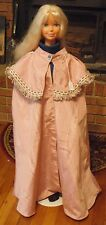Mauve Taffeta Long Cloak with Mantle for Child, Teen or Small Adult FSGC28