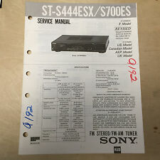 Sony Service Manual~ST-S444ESX ST-S700ES Stereo Tuner~Original~Repair