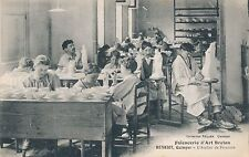 Postcard Henriot Quimper pottery works 14