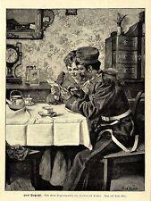 Buona notizia (Ferdinand Pacher) decorativo grafico 1895